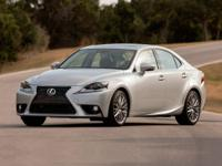 2014 Lexus IS 250 AWD.27/20 Highway/City MPG  Options: