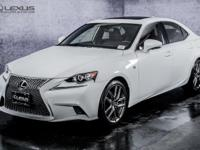 2014 Lexus IS 250 F Sport. AWD. Gently used. So few