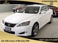Options:  2014 Lexus Is 250 C|White|Super Low