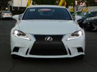 Options:  2014 Lexus Is 350|White/Black|V6 3.5 L