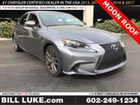 Options:  2014 Lexus Is 350|Gray|Moon Roof|Navigation