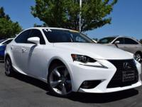 CARFAX One-Owner. Clean CARFAX. White 2014 Lexus IS 350
