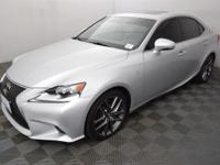 Clean CARFAX. Silver 2014 Lexus IS 350 AWD 6-Speed