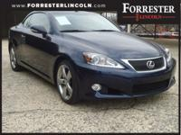 2014 Lexus IS 250 C, Blue, Hard Top Convertible,