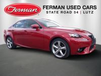 New Price! Clean CARFAX. Red 2014 Lexus IS 250 RWD
