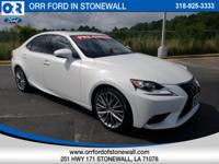 Ultra White 2014 Lexus IS 250 RWD 6-Speed Automatic