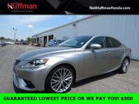 Silver 2014 Lexus IS 250 AWD 6-Speed Automatic