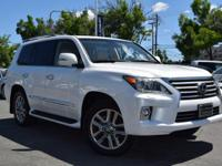 CARFAX One-Owner. Clean CARFAX. White 2014 Lexus LX 570