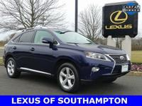 CARFAX One-Owner. Clean CARFAX. Blue 2014 Lexus RX 350