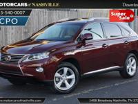 This 2014 Lexus RX 350 4dr features a 3.5L V6 DOHC 24V