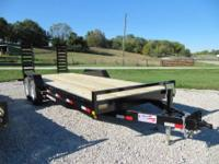 2014 Liberty 20' 14K equipment trailer with 2-7000#