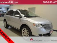 Clean CARFAX. Silver 2014 Lincoln MKX AWD 6-Speed