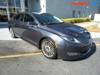Scores 33 Highway MPG and 22 City MPG! This Lincoln MKZ