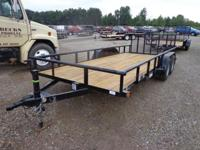 "(989) 607-4841 ext.497 83"" x 18' Open Utility Trailer"