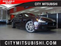 LOW MILES MASERATI GHIBLI. UPGRADED SPORT LEATHER