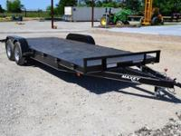 2014 Maxey Steel Floor Car Hauler. 2-3,500 lb Posi Lube