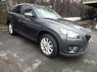 CARFAX One-Owner. Gray 2014 Mazda CX-5 Grand Touring