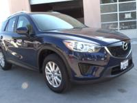 CARFAX 1-Owner. CX-5 Sport trim, Deep Crystal Blue Mica