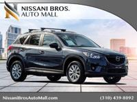 Clean CARFAX. Gray 2014 Mazda CX-5 Touring AWD 6-Speed
