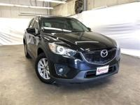 Clean CARFAX. Black 2014 Mazda CX-5 Touring FWD 6-Speed