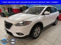 ONE OWNER, LEATHER, NAVIGATION, SUNROOF, CX-9 Touring,