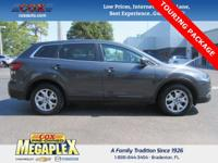 This 2014 Mazda CX-9 Touring in Meteor Gray Mica is