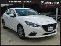 2014 Mazda, Mazda3, White, 1-Owner, Accident Free
