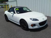 2014 MAZDA MIATA!! RWD, 2 DOOR CONVERTIBLE, ALLOY