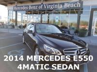 2014 MERCEDES E550 SEDAN, MERCEDES CERTIFIED WITH