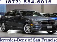 Clean CARFAX. Steel Gray 2014 Mercedes-Benz C-Class