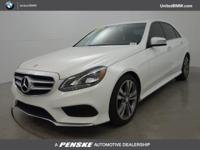 E 350 Sport trim, Polar White exterior and Silk