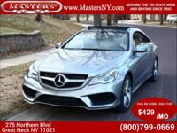 This Amazing Silver 2014 Mercedes-Benz E550 Coupe Comes