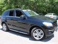 This 2014 Mercedes-Benz M-Class ML350 in Black