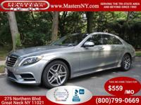 This Amazing Grey 2014 Mercedes-Benz S550 4Matic