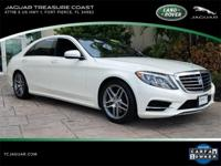 New Price! 2014 Mercedes-Benz S-Class S550 White CARFAX
