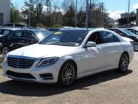 Options:  2014 Mercedes S-Class S550|Diamond White