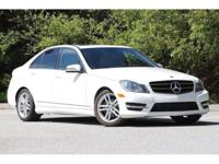 Certified. Polar White 2014 Mercedes-Benz C-Class C 250