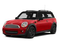 MINI Certified. FUEL EFFICIENT 35 MPG Hwy/28 MPG City!