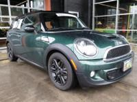 EPA 35 MPG Hwy/26 MPG City! MINI Certified, CARFAX