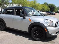 This 2014 MINI Cooper Countryman in Crystal Silver