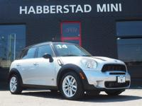 Bold and beautiful, this 2014 MINI Cooper Countryman S