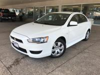 Clean CARFAX. Wicked White Metallic 2014 Mitsubishi