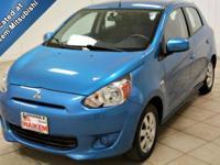 Options:  2014 Mitsubishi Mirage De|Miles: 39999Color: