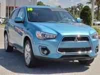 CARFAX One-Owner. Certified. Blue 2014 Mitsubishi