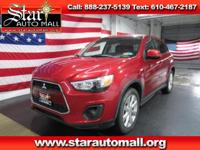 Red 2014 Mitsubishi Outlander Sport ES FWD CVT with
