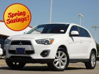 2014 Mitsubishi Outlander Sport White Pearl CVT with