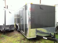 2014 NEW CHARCOAL 8 1/2' x 20' Tandem Axle Enclosed