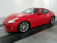 Red 2014 Nissan 370Z Touring RWD 6-Speed Manual 3.7L V6