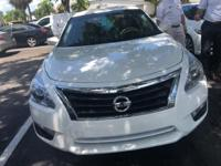 Clean CARFAX. Pearl White 2014 Nissan Altima 2.5 S FWD