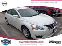 This Pearl White 2014 Nissan Altima 2.5 is priced to